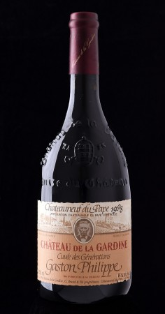 Foto einer Flasche Château de la Gardine Cuvée des Générations 1998